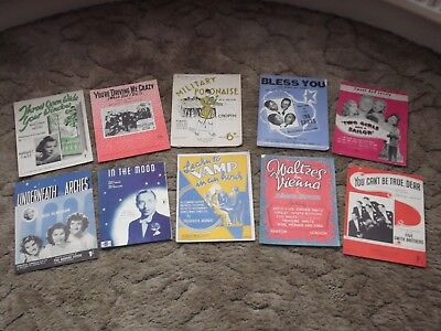 20 pieces of 1930s Sheet Music including songs from Ivor Novello and the Andrews