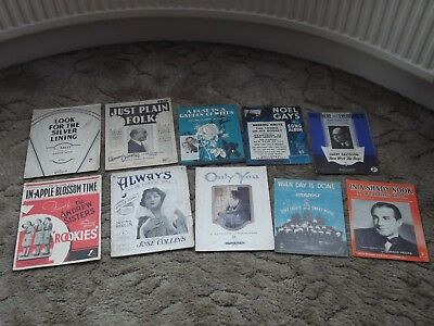 20 pieces of 1920s Sheet Music including songs from Daisy Wood and Dorothy Ward