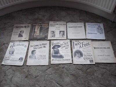 19 pieces of 1920s Sheet Music including songs from Victoria Carmen and Daisy Do
