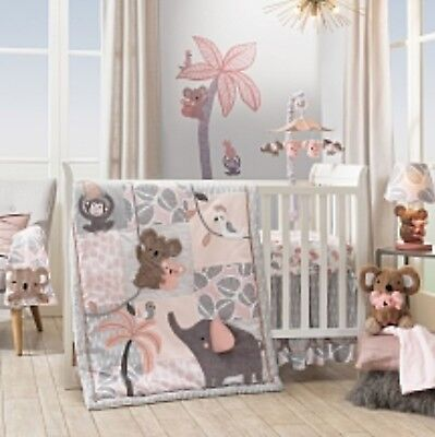 Lambs & Ivy Calypso Baby Nursery Crib Bedding Set 4 pc