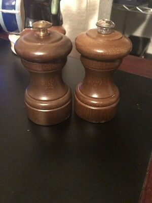 """French Peugeot Freres Lion 4"""" Pepper Mill Lot Of 2 Vintage"""