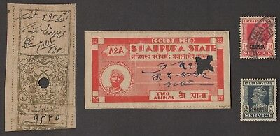 1 SHAHPURA, 1 TONK, 2 CHAMBA (INDIAN STATE) All Different Stamps (c80)