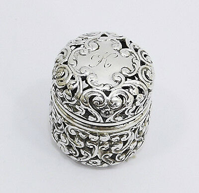 Unger Brothers .925 Sterling Silver Repousse Thimble Holder 1872-1914
