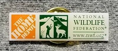 LMH PINBACK Pin 2005 HOME DEPOT Employee NATIONAL WILDLIFE NWF Federation 1-1/4""