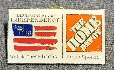 LMH PINBACK Pin HOME DEPOT Employee ROAD TRIP Declaration Independence SPONSOR