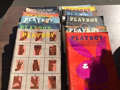Playboy Magazine Full Year Set 1971 All 12 Issues. Complete Collection. Nude Lot
