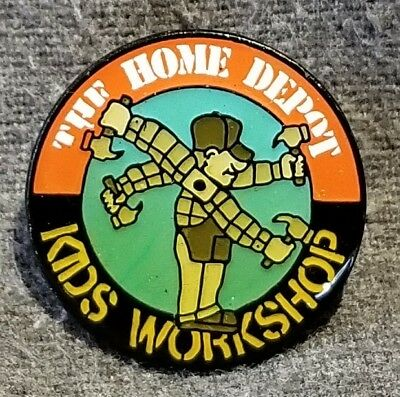 """LMH PINBACK Pin HOME DEPOT Kids Workshop HOMER WINDMILL Arms Spin w/ Hammer 1"""""""