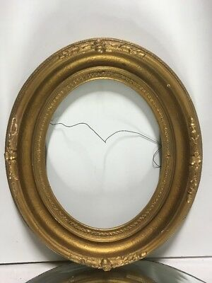 """ANTIQUE 19th Century OVAL Victorian PICTURE FRAME Fits 8""""x10"""""""