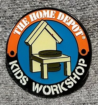 LMH PINBACK Pin HOME DEPOT Kids Workshop PLANTER Flower Garden Pot 1""
