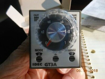 IDEC TIMER RELAY, GT3A-3AD24 24V AC/DC , 8-PIN PLUG-IN DPDT 5A,Electronic