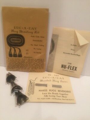 NU-FLEX Set of 3 Folders + Lacer RUG A DAY Braiding Kit Instructions MUST SEE