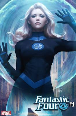 7/2018 Fantastic Four #1 Artgerm Invisible Woman Variant Comics Nm Preorder