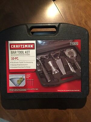 Craftsman Bar Tool Set 10 Pc- New!  Perfect for the drinking handyman or woman!