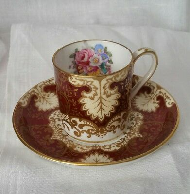Vintage Cup And Saucer Crown Staffordshire England Collectable Ornate Floral