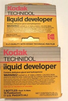 Vintage Kodak Technidol Liquid Developer