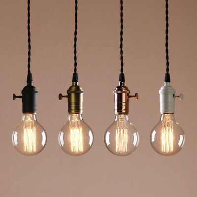Cluster 1 Retro Industrial Lampholder Loft Ceiling Pendant Light Copper Fittings