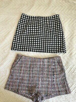 808df30489 LOT- ZARA WOMEN shorts-skirt, size L,boucle/chanel & Forever 21 ...