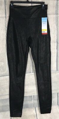 89944d14e7d401 NWOT Spanx Assets Red Hot Label Structured Leggings Shine Pants Black Small  Peti