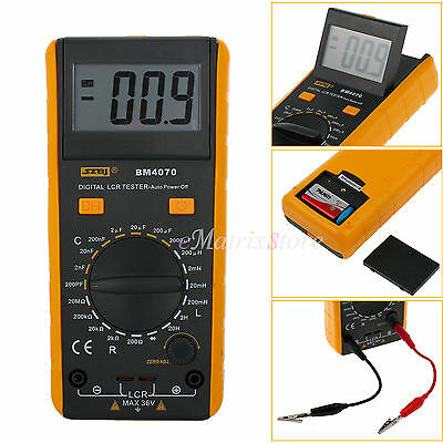 Digital LCD BM4070 LCR Capacitance Inductance Meter Resistance Crocodile Clip
