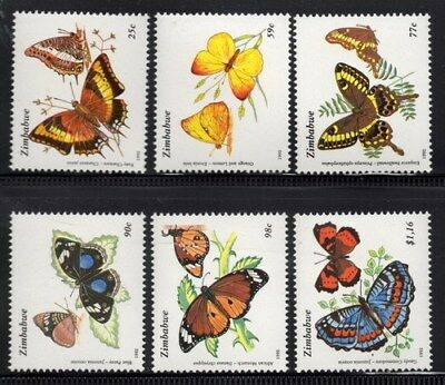 Stamps Zimbabwe 1992 Butterflies mint unhinged