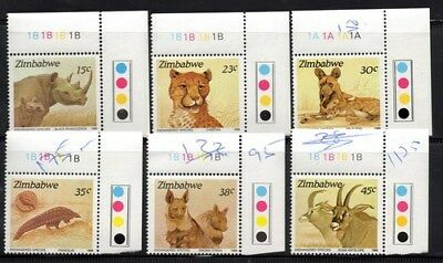Stamps Zimbabwe 1989 Endangered Species with traffic lights muh