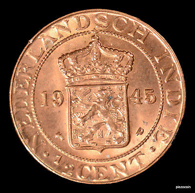 Netherlands East Indies 1/2 Cent 1945 #a651