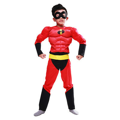The Incredibles 2 Boy's Muscle Costumes Kids Halloween Cosplay Costume Jumpsuits