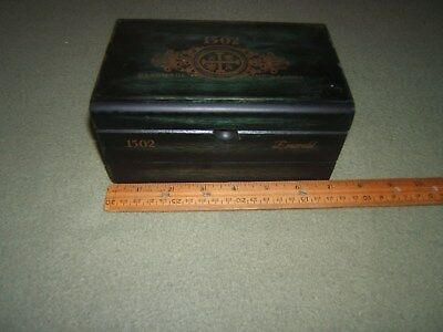 1502 Emrarld With Antique Look Design Cigar Wood Box  From Nicaragua