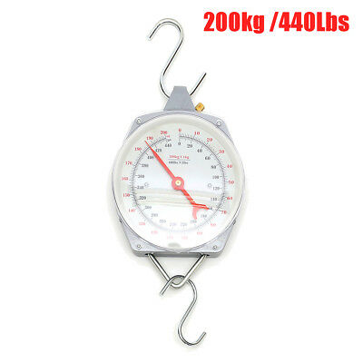 Alloy 200kg 440lbs Heavy Hanging Weighing Scales Mechanial with Hook Fishing
