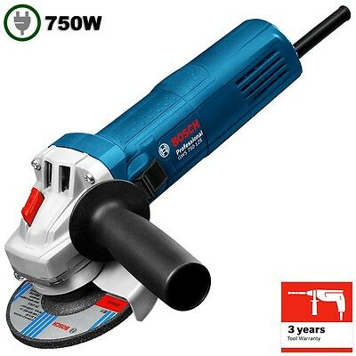 "Bosch Small Angle Grinder 750W 125mm 5"" Power Corded GWS 750-125 New Aust Stock"