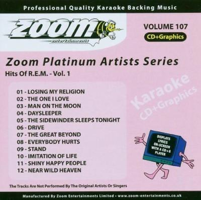 Zoom Karaoke Platinum Artists Series Volume 107 Hits Of R.E.M Vol.1 CD + G New