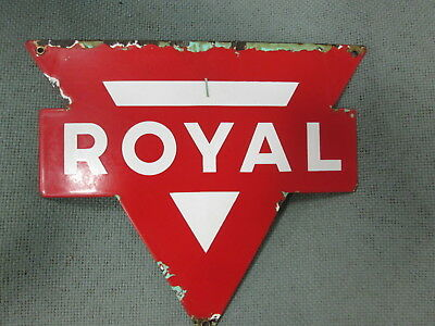 Early Original Conoco Royal Porcelain Sign