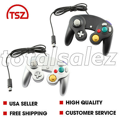 2 For Nintendo Game Cube Black Grey Controller Joy Pad Remote Video System