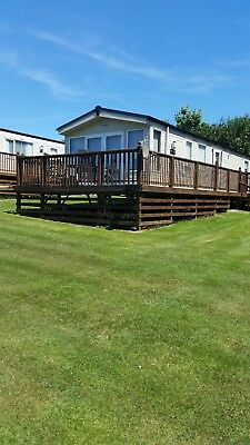 Static caravan luxury 6 berth Atlas Image 40x12  sited Tenby Pembrokeshire