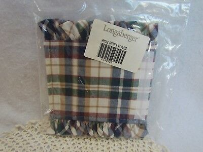 Longaberger Handle Gripper: Woven Tradition Plaid ~ New!
