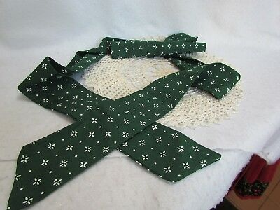 Longaberger Heritage Green Large Handle Tie with Bow