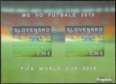 Slovakia block34 (complete.issue.) unmounted mint / never hinged 2010 Football