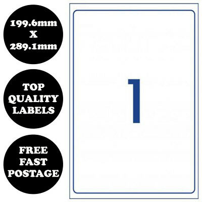 [1 Per Page] A4 Self Adhesive Address Labels Laser Inkjet Print Mailing Stickers