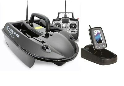 Waverunner Mk4 Baitboat 5.8GHz With Toslon TF500 Fishfinder NEW Bait Boat