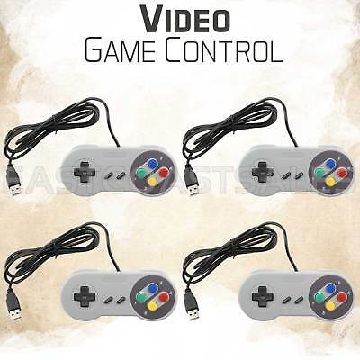 4x USB Controller Video Game Pad for Super Nintendo SNES Mac PC Computer System