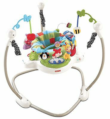 FISHER PRICE JUMPEROO DISCOVER & GROW ACTIVITY CENTER BOUNCER Lights Sounds Play