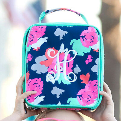 522098b38f PERSONALIZED MONOGRAMMED FLORAL BACKPACK DUFFEL BAG LUNCH TOTE or PENCIL  CASE