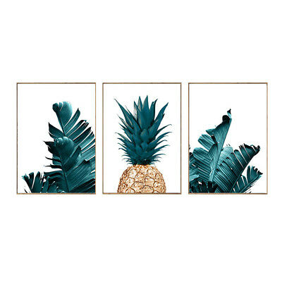 Nordic Pineapple Green Leaves Canvas Wall Painting Poster Home Art Decor Healthy
