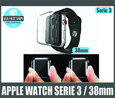 Apple Watch Serie 3 Screen Protector Iwatch 38mm Cover Protection Case