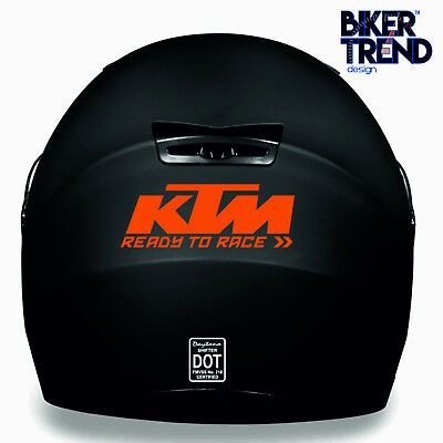 3 X KTM READY TO RACE HELMET KIT Medium Decal Sticker Detail-Best Quality