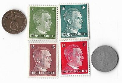 Rare Very Old German WWII WW2 Germany Coin Stamp Great War Collection Lot US/259