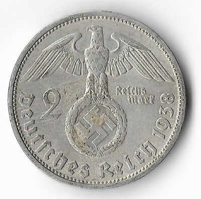 Rare Old Silver 1938 WWII MUNICH Germany Eagle Great War Collection Coin US/260