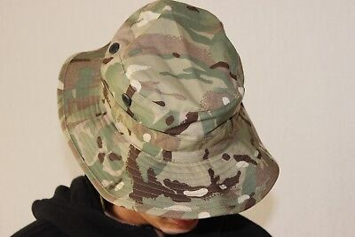 756eed5a253 100(4) MTP Boonie Genuine Issue Multicam Tropical Combat Bush Hat - flap  size