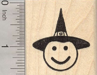 RUBBER STAMP SMILING Witch Mask Halloween Theatre Theater Drama