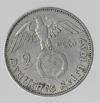 Rare Old SILVER 1937 WWII Germany Great War Eagle WW2 German BERLIN Coin US:224